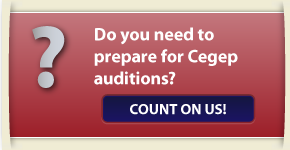 Do you need to prepare for cegep auditions?
